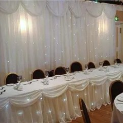 Wedding Chair Covers Burton On Trent Balance Ball Desk Benefits And Sashes Bouncy Castle Hire In Coalville Ibstock Starlight Back Drop With Top Table Skirt Cake For