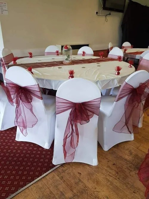 wedding chair covers tamworth lounge outdoor chairs decorations balloons party bags bouncy castle hire in and letter box