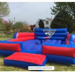 Chair Covers Bristol And Bath Deflecto Mats Reviews Other Inflatables Bouncy Castle Hire In Weston Super Mare Deluxe Gladiator Duel