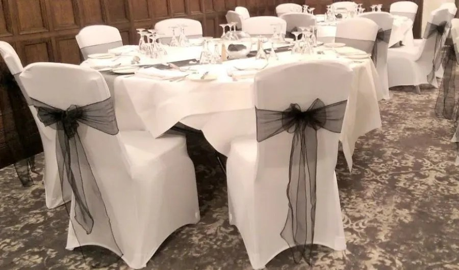 chair cover and sash hire birmingham rentals oakland ca 50 x covers colour bouncy castle in wythall