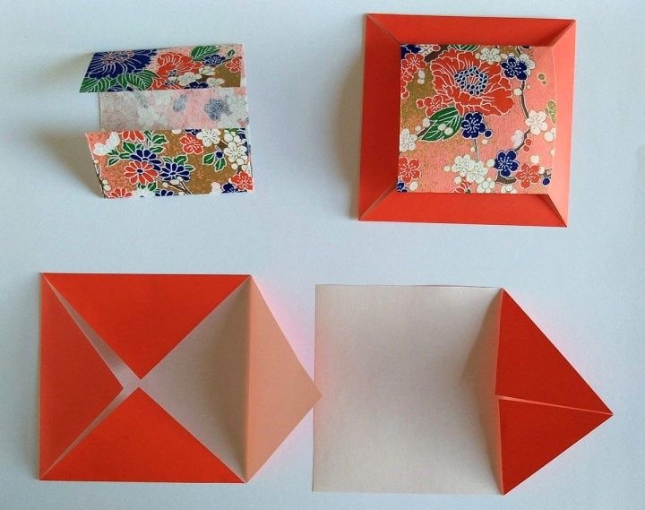multi piece cover origami paper