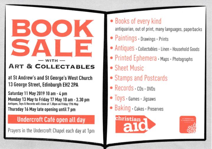 Christian Aid Book Sale Edinburgh