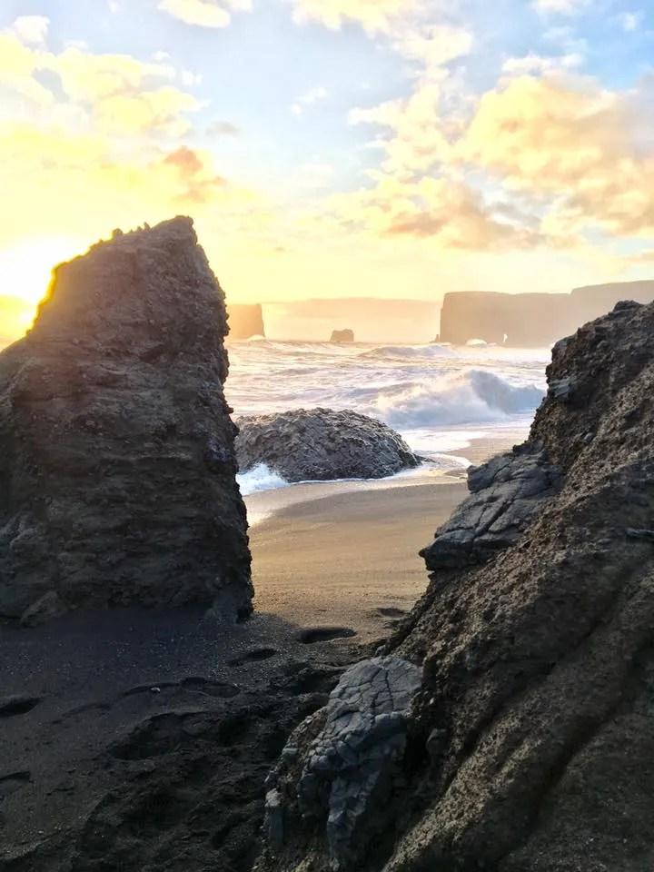 Travel to Dyrholaey, Iceland