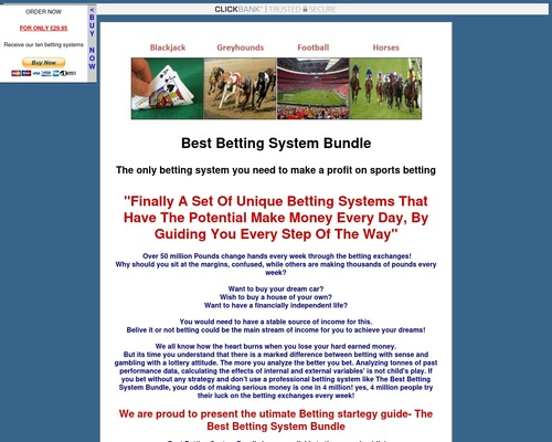 Best betting system bundle - Make money on the betting exchanges with horses, greyhounds, blackjack and football