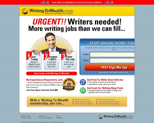WritingToWealth - Join Now!