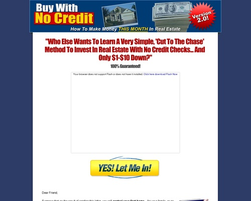 Buy With No Credit No Money Nothing Down Creative Real Estate Investing |