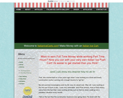 Italian Ice Carts | Start Your Own Italian Ice Cart And Easily Make Money! | www.ItalianIceCarts.com