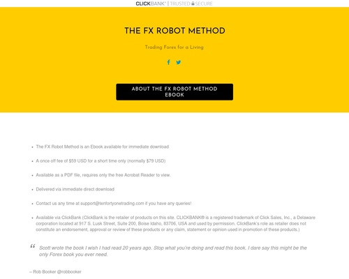 Clickbank Offer - The FX Robot Method