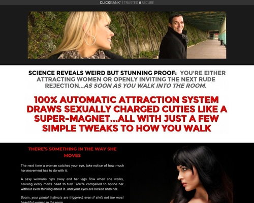 The Walking Code | Automatic Attraction System - Deserve What You Want Landing