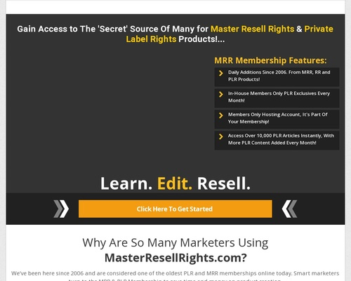 Master Resell Rights | Private Label Rights PLR | Master Resale Rights