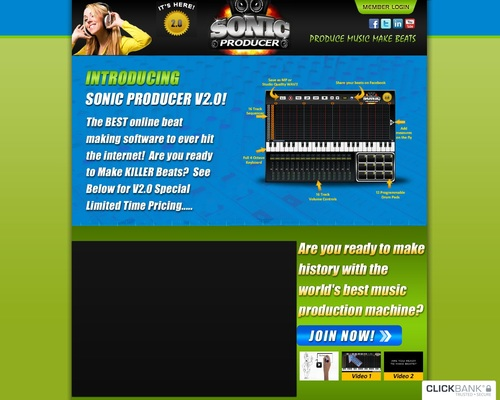 Now its easy to make rap beats online with our new beat maker – Sonic Producer