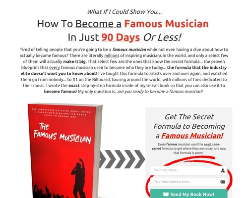 How To Become A Famous Musician E-book