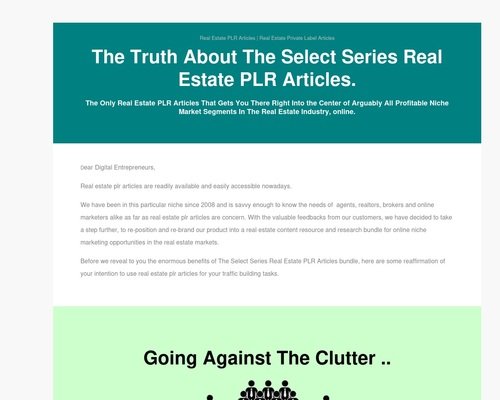 The Re-Launch of A New Real Estate PLR Articles Content Resources Brand Soon