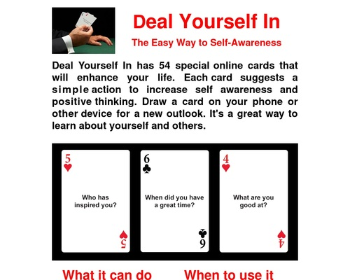 Deal Yourself In - Online cards for self-awareness and enhancing your life.