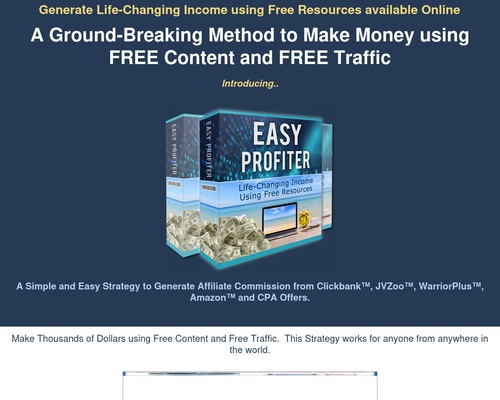 Easyprofiter - Practical Way To Make Money Online