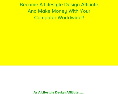 Become A Lifestyle Design Affiliate