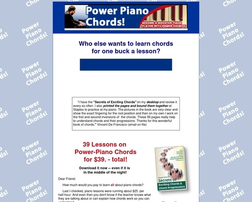 Power Piano Chords!