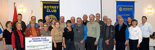 Friends of Boun Lod from the Pincher Creek Rotary Club.