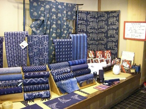 bleu jeans mais en kimono
