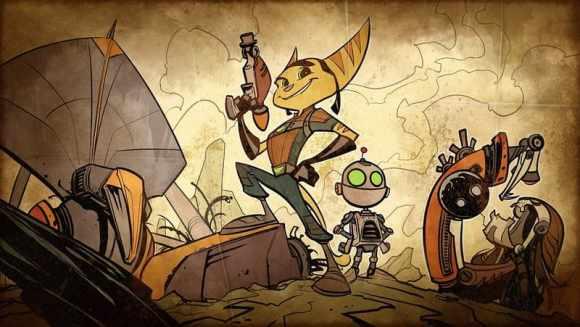 Insomniac Games Ratchet & Clank illustration