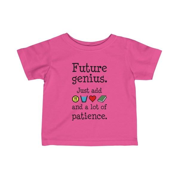 Future genius infant t-shirt - pink