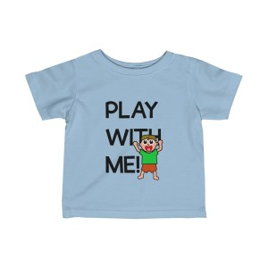 Play with me explorer (parental guidance required) infant boy's t-shirt - front - light blue