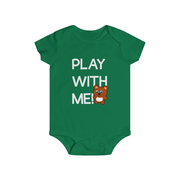 Play with me explorer (parental guidance required) infant onesie bear edition - frnot - green