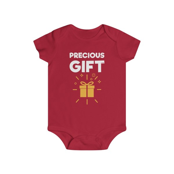 Precious gift infant onesie - red