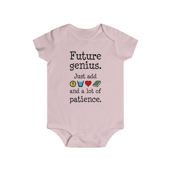Future genius infant onesie - light pink