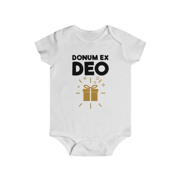 Donum ex Deo (gift from God) infant onesie - white