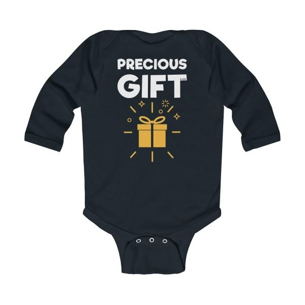 Precious gift long-sleeved infant onesie - black
