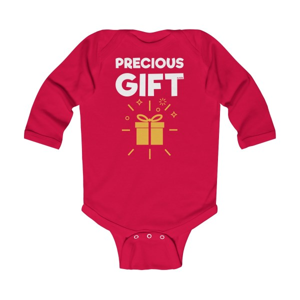 Precious gift long-sleeved infant onesie - red