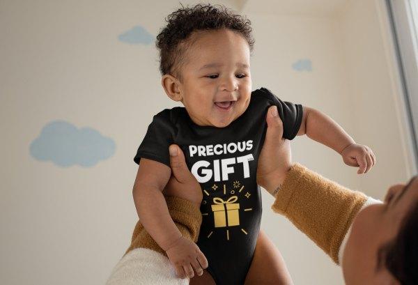 Baby boy in Precious Gift Onesie