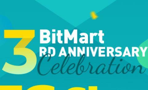 5 BTC Giveaway (BitMart 3RD Anniversary Celebration)