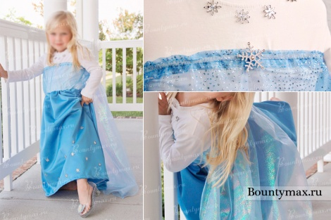 Hur man syr en klänning Elsa från det kalla hjärtat för flickan gör det själv