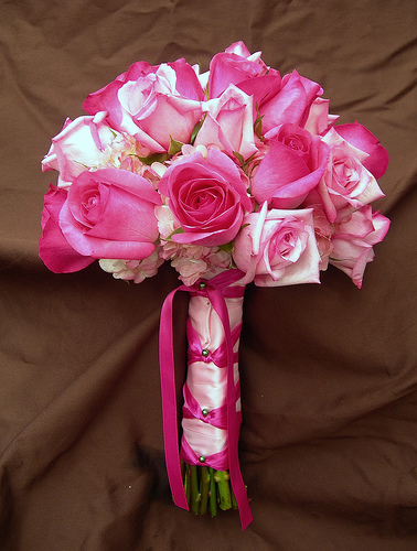 Pink Wedding Bouquet  bouquet4princes