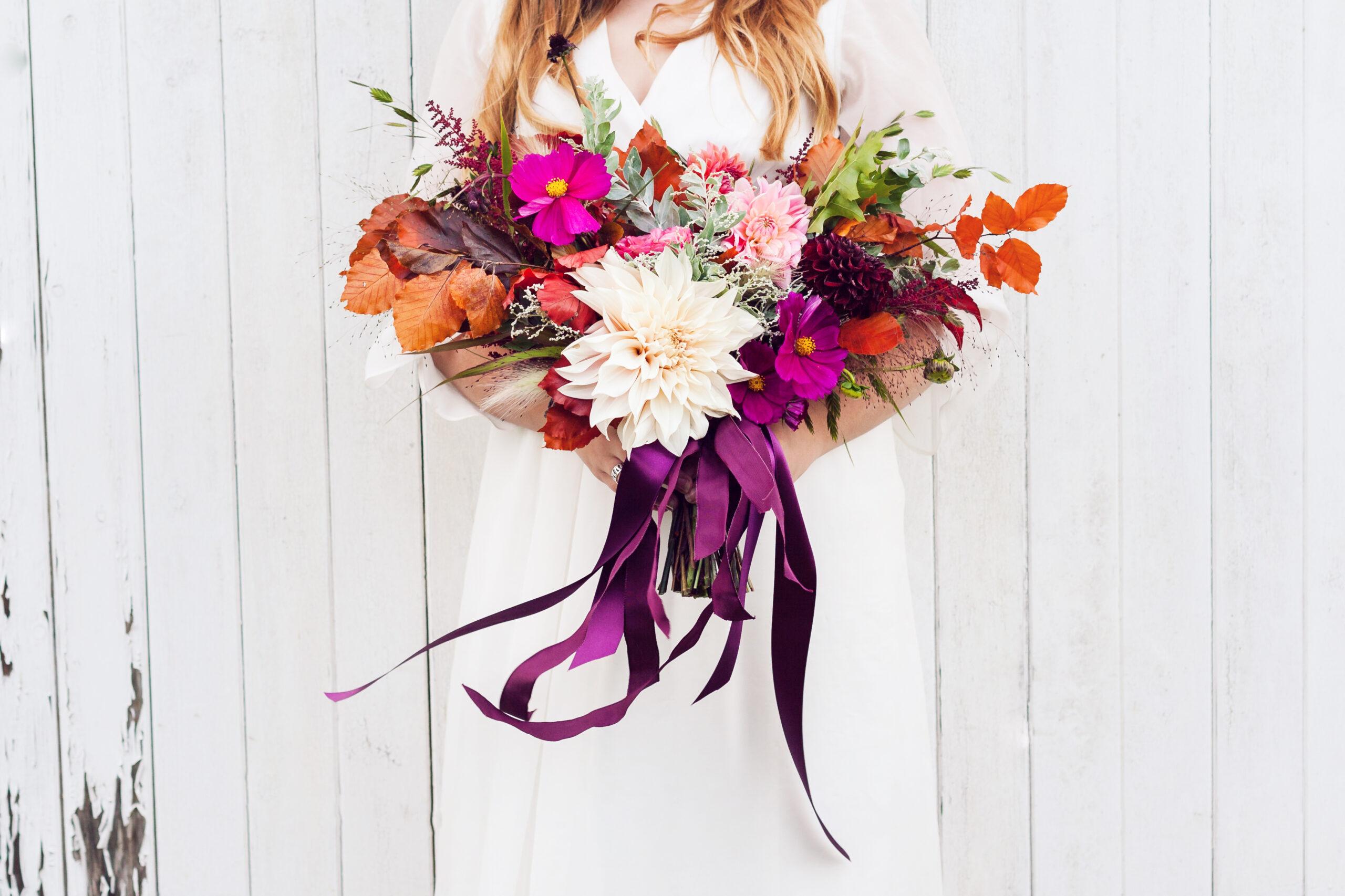 Gathered Style - Bloom Room Studio LTD - Wild Bridal Bouquet - Photo Credit Katie Spicer