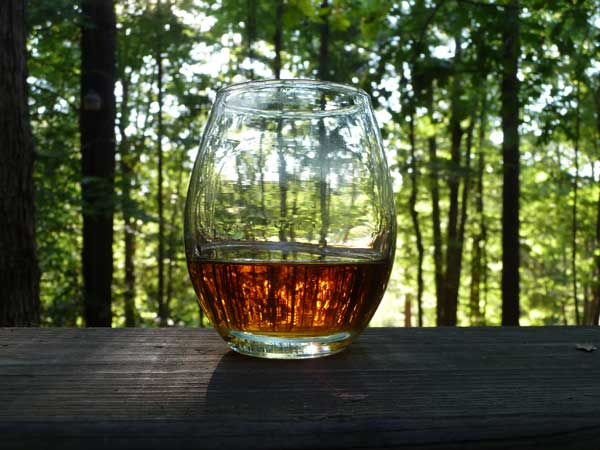 Elijah Craig in a glass