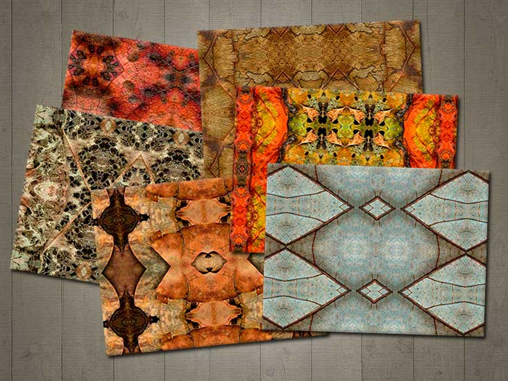 kaleidoscope leaf placemats