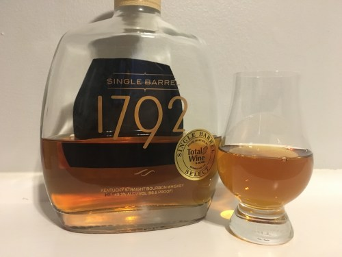 Bottle of 1792 with glencain glass