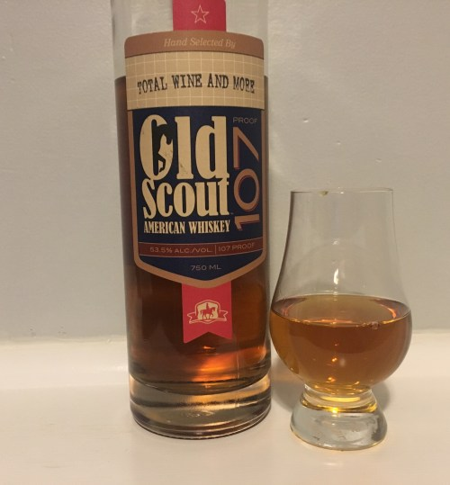 Bottle of Smooth Ambler Old Scout with glencairn glass