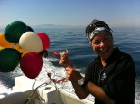 Some balloons we found in the ocean and took home to dispose of them properly