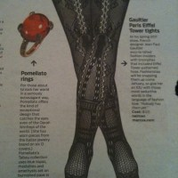 Legs to lust after - touristy tights by Gaultier
