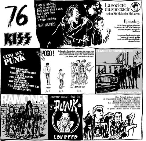 la storia del Rock a fumetti