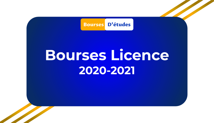 Bourses Licence 2020-2021