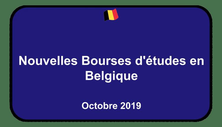 Bourses d'études en Belgique Octobre 2019