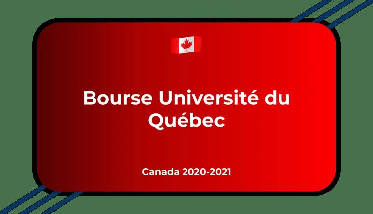 Bourse Université du Québec Canada 2020