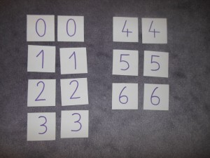 Activité Montessori, mises en paire