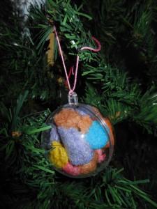 Bricolage de Noël avec des playmais