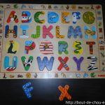 Puzzle pour apprendre les lettres